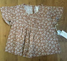 BNWT RYLEE & CRU VINTAGE ROSE BLAIRE BLOUSE IN TRUFFLE ~ 6-12 Months