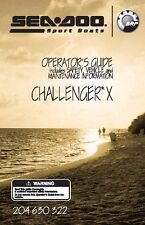 Sea-Doo Owners Manual Book 2005 CHALLENGER X