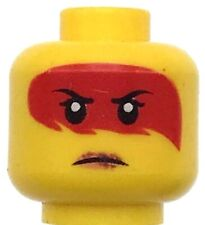 Lego New Yellow Minifiure Head Dual Sided Female with War Paint Indian Face