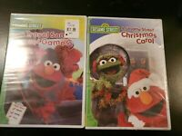 Sesame street dvd lot: 2 dvds Elmo's Travel Song and Games and Christmas Carol