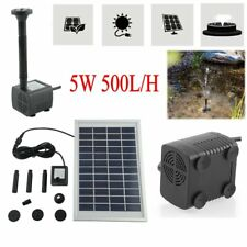 12V 5W Solar Power Fountain Garden Pond Pool Water Feature Submersible Pump New