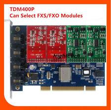 TDM400P VoIP Asterisk card with 4FXO/FXS Asterisk/FreePbx/Trixbox/Elastix