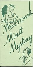 Mrs. Brown's MinitMaid Mystery Brochure / Chicago's 1934 A Century of Progress