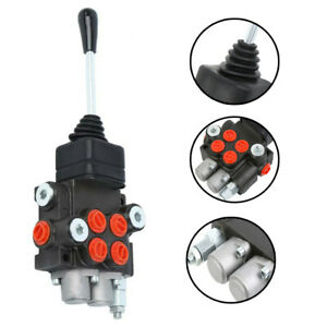 2 Spool 11 GPM Hydraulic Directional Control Valve Tractor Loader w/ Joystick
