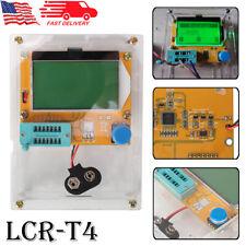 Lcr T4 Backlit Component Tester Esr Meter Kit Lcd Transistor Tester With Case