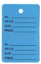 1000 Two-Part BLUE Perforated Style Size Price Coupon Merchandise Tags FREE PEN
