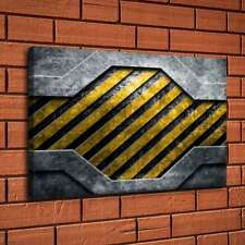 Metal Yellow Texture Home Decor Room HD Canvas Print Picture Wall Art Painting