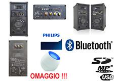 COPPIA CASSE ACUSTICHE AMPLIFICATE ATTIVE bluetooth 200W usb-sd diffusori