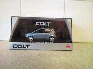 SUNSTAR MODELS - MITSUBISHI COLT - BLUE - 1/43 scale model car - DEALER EDITION