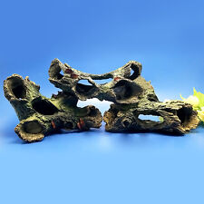 3pcs Resin Tree Trunk Wood Drift Decor Aquarium Ornament Root for Fish Tank NEW