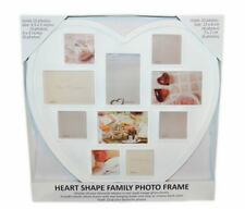 Stylish Heart Shape 10 in 1 Multi Picture Image Photo Family Tree Frame