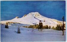 TIMBERLINE LODGE, Oregon  OR    SKI TOW at MT. HOOD  ca 1950s-60s  Postcard