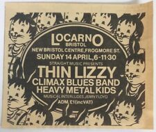 THIN LIZZY vintage concert ad, flyer, poster Climax Blues Band, Heavy Metal Kids