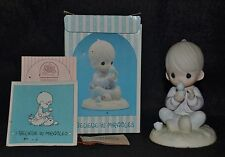 """Precious Moments """"I Believe In Miracles"""" Blue Chick - E7156R ~ Flower Mark-Nib"""