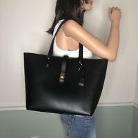 New MICHAEL KORS Leather Large Carryall Tote Shoulder Bag Purse Black