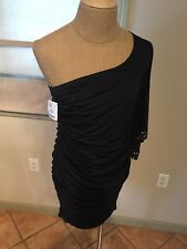 XL BRAND NEW NWT SEXY BLACK ONE SHOULDER EVENING PARTY DRESS 1X