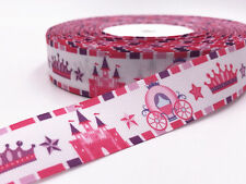 DIY 5 Yard 1''castle animation  Printed Grosgrain Ribbon Hair Bow Sewing