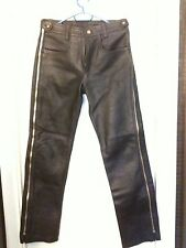 Leather Pants Chaps Lederhose Pantaloni Pelle W29 L32 Fetish Harley Vanson NEW