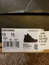 Chuck Taylor Converse All Star BLACK MONO Hi Top Mens 13 Womens 15