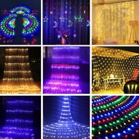 LED Curtain Fairy String Lights Waterfall Mesh Holiday Party Wedding Decor Light