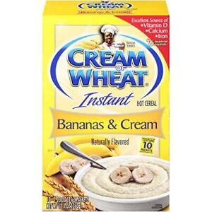 Cream of Wheat Instant Hot Cereal, Bananas and Cream, 1.23 Ounce, 10 Packets