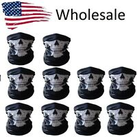 Lot of 30 10 50 Ghost Biker Skull Hood Face Mask Motorcycle Ski Balaclava Sport