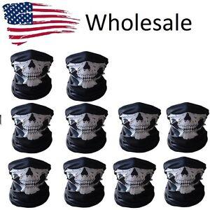 Wholesale lot Ghost Biker Skull Hood Face Mask Motorcycle Ski Balaclava Sport