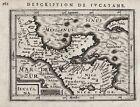 Yucatan Peninsula Guatemala El Salvador Mexico Honduras map Karte Bertius 1618