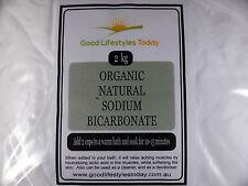 BULK BUY - 2kg ORGANIC SODIUM BICARBONATE SODA Premium Grade - ALUMINIUM FREE !!