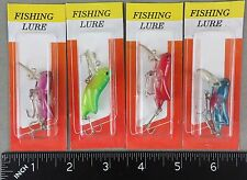 "FOUR Grasshopper Locust Rattling Crankbaits (Mini 1-1/2"" long) COMBINE SHIPPING!"