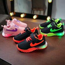 Jungen Mädchen Sportschuhe Freizeitsport Atmungsaktiv Sneakers Blinkende Air Max