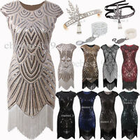1920s Flapper Dress Vintage Style Sequins Beads Tassels Party Evening Dresses UK