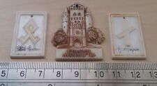 Set of 3 Plastic German Rune Tinnie/ Friedland/ WWII Winterhilfswerk WHW/ 1940's