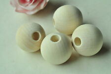 4pcs 35mm Large Round Wood Bead Unfinished Natural Wooden Spacer Necklace Craft