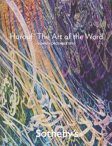 Sotheby's Doha, Catalogue Hurouf: The Art of the World 2010 HB