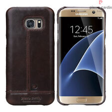 Pierre Cardin Ultra thin Genuine Leather Case Cover For Samsung Galaxy S7 Edge