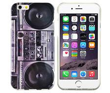 Tpu Housse F iPhone 6 6s Case sac Cover étui GHETTOBLASTER radio retro