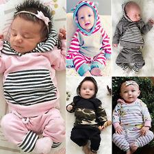 Neugeborenen Baby Langarm Hoodie Tops Sweatshirt + Hosen Jungen Mädchen Outfits