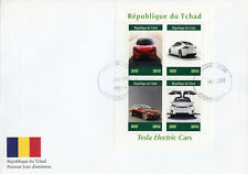 Chad 2019 FDC Tesla Electric Cars 4v M/S Cover Transport Stamps