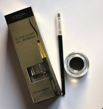 Loreal SUPERLINER GEL INTENZA eye-liner + BROSSE 02 doré NOIR eye-liner