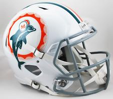 Miami Dolphins 1972 Throwback Riddell Speed Full Size Replica Football Helmet