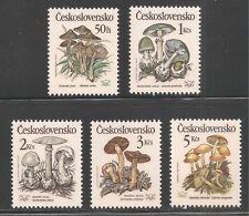 Czechoslovakia #2758-2762 (A994) VF MNH - 1989 50h to 5k Poisonous Mushrooms