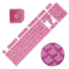 Backlit Double Shot Color Keycaps Cherry MX Mechanical Keyboard Themes Pink 104