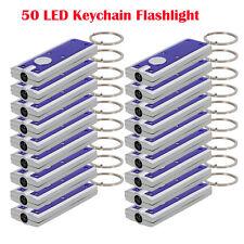 Lot of 50: New Portable Mini Super Bright LED FlashLight Ring Key Chains Lamp