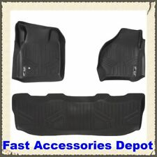 MAXFLOORMAT Floor Mats for Ford F-250 / F-350/ F-450/ F-550 Crew Cab(1999-2007)