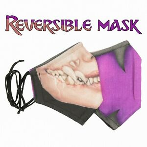 Mileena MKX - Double sided - Reversible 2 in 1 Mask - Three Layer Protection