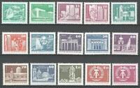 Germany (East) DDR GDR 1980/1 MNH Definitives Mi from 2484-2650 SG E2197-E2211