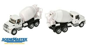Walthers-International(R) 7600 3-Axle Cement Mixer - Assembled -- White - HO