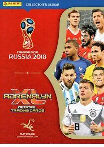 Panini Adrenalyn XL FIFA World Cup 2018 Russia card no. 250-468