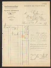 """PARIS (III°) FABRIQUE de BIJOUX """"LES BIJOUX A LA MODE / Maurice LESPOUS"""" en 1919"""